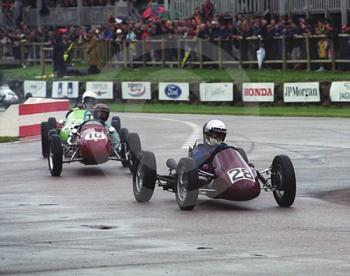 Roy Hunt, Martin Norton 500, and Peter Wright, Cooper Mk 8 JAP, Goodwood Revival, 1999.