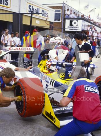 Nigel Mansell, Williams FW11B, British Grand Prix, Silverstone, 1987.