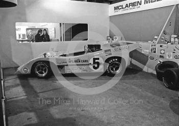McLaren M8D Can-Am sports car as driven by Denny Hulme, International Racing Car Show, Olympia, 1971.