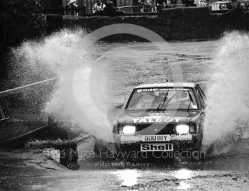 Talbot (BDU 111Y), water splash, Sutton Park, RAC Rally 1982
