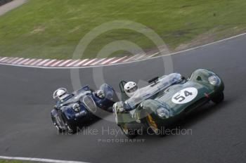 Peter Horsman, 1959 Lotus 17, and Graeme Dodd, 1954 Jaguar XK120, BRDC Historic Sports Car Championship Race, Oulton Park Gold Cup meeting 2004.