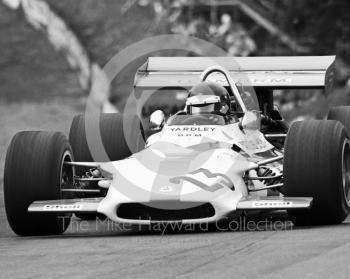 Jackie Oliver, Yardley BRM P153 V12, at Druids Hairpin, Brands Hatch, British Grand Prix 1970.