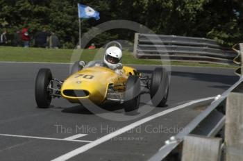 Bob Birrell, 1963 Brabham BT6, Millers Oils/AMOC Historic Formula Junior Race, Oulton Park Gold Cup meeting 2004.
