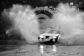 Per Eklund/Dave Wittock (K AR 606), 9th place, Toyota, water splash, Sutton Park, RAC Rally 1982