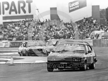 Stuart Graham, Faberge Ford Capri, Tricentrol British Saloon Car Championship race, 1979 British Grand Prix meeting, Silverstone