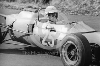 Brian Hart at Esso Bend in his Lotus 35 Cosworth, Oulton Park Gold Cup, 1965