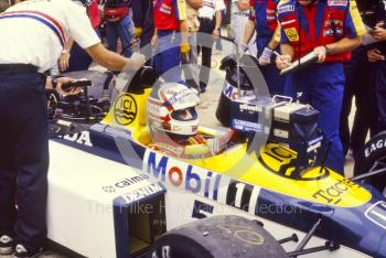 Nigel Mansell, Williams FW11B, British Grand Prix, Silverstone, 1987