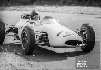 David Prophet in his F2 Brabham BT10 Cosworth at Knickerbrook, Oulton Park Gold Cup, 1965