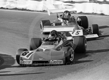 Peter Gethin, Chevron B20 and David Purley, Lec Refrigeration Racing March 722-10, Mallory Park, Formula 2, 1972.