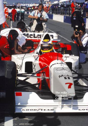 Mark Blundell, McLaren MP4, Silverstone, British Grand Prix 1995.