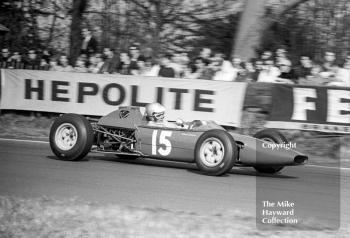 Chris Irwin, Merlyn Racing MK 9 Cosworth SCA, on the way to 9th place, Oulton Park, Spring International 1965.