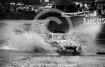 Russell Brookes, Andrews Heat for Hire Vauxhall Chevette, reg no XEG 550X, water splash, Sutton Park, RAC Rally 1982