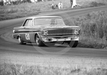Frank Gardner, Alan Mann Racing Ford Falcon, winning Class B, over 2000cc, and setting fastest lap of 92.55mph, Oulton Park Gold Cup meeting, 1967.