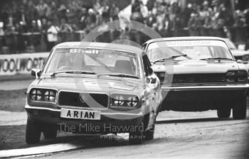 Bill Sydenham, Mazda RX3, Britax Production Saloon Car Race, European F2 Championship meeting, Silverstone 1975.