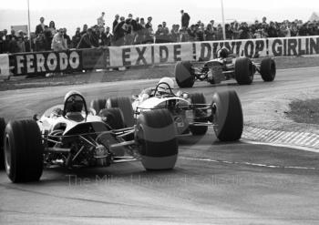 Jochen Rindt, Brabham BT23C, leads out of the chicane, Thruxton, Easter Monday 1968.