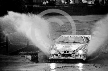 Lancia Martini, water splash, Sutton Park, RAC Rally 1982