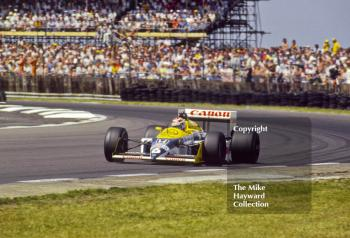 Nelson Piquet, Canon Williams FW11B, Copse Corner,  British Grand Prix, Silverstone, 1987