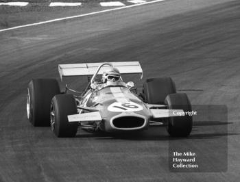 Jack Brabham, Brabham BT33, at Bottom Bend on the way to 4th place, Race of Champions, Brands Hatch, 1970.