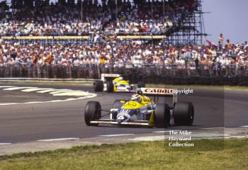 Nelson Piquet, Williams FW11B, Nigel Mansell, Williams FW11B, Silverstone, 1987 British Grand Prix.