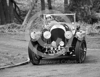 R B Watson-Smythe, 1926 Bentley 2992cc, reg no YN 3401, at the Triangle, Loton Park, Shropshire, April 27, 1969.