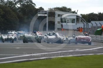 The start of the BRDC Historic Sports Car Championship Race, Oulton Park Gold Cup meeting 2004.