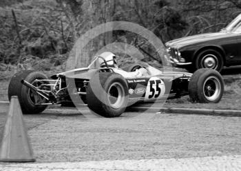 David Blankstone, Lotus 41C, spins at the Triangle, Loton Park, April 27, 1969.