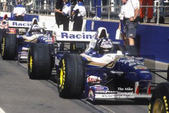Damon Hill and David Coulthard, Williams FW17, Silverstone, British Grand Prix 1995.