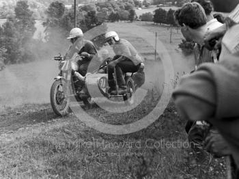 Sidecar action, Kinver, Staffordshire, in 1964.