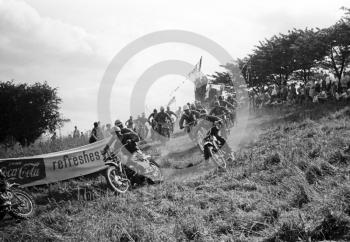 First lap, Kinver motocross, Staffordshire, 1964.