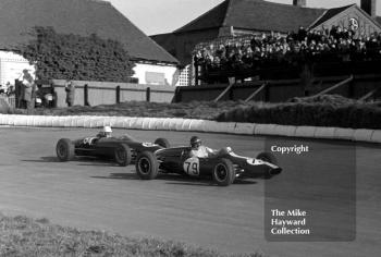 Tony Hegbourne, 1.6 Cooper Ford, Bill Bradley, Lola Ford, Formula Libre race, Mallory Park, March 8 1964.