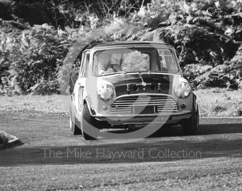 J Francis, Mini Cooper S, 13th National Loton Park Speed Hill Climb meeting, September 1968.