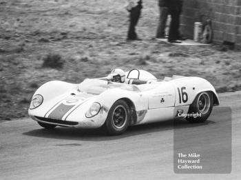 Winner Denny Hulme, Sid Taylor Brabham BT8 Climax, at Knickerbrook, Tourist Trophy, Oulton Park, 1965.