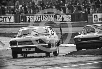 Marc Smith, Ford Capri, Britax Production Saloon Car Race, European F2 Championship meeting, Silverstone 1975.