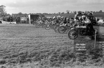 Motocross action at Nantwich, Cheshire, 1963.