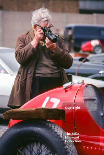 A Maserati 8CM of W Black gets a close-up, VSCC Donington May 1979