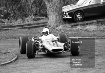 Peter Blankstone driving a Brabham at the 14th National Loton Park Speed Hill Climb, Shropshire, April 27, 1969.