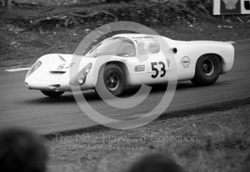 Porsche 910 of Rudi Lins and Karl Foitek (S-ZL 852), BOAC 500, Brands Hatch, 1968