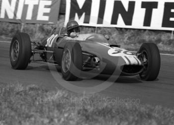 Tony Hegbourne, John Willment Automobiles Lola T55 (SL/64/2) Lola, at Old Hall Corner heading for 6th place, Oulton Park, Spring International 1965.