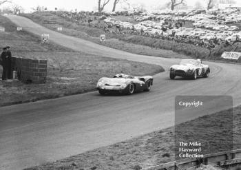 David Hobbs, Lola Ford T70 and Sir John Whitmore, Shelby Cobra, Tourist Trophy, Oulton Park, 1965.