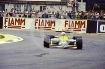 Nigel Mansell, Canon Williams FW11B, British Grand Prix, Silverstone, 1987.